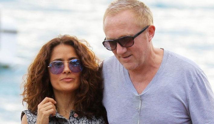 Foto Salma Hayek con il marito Francois Pimault