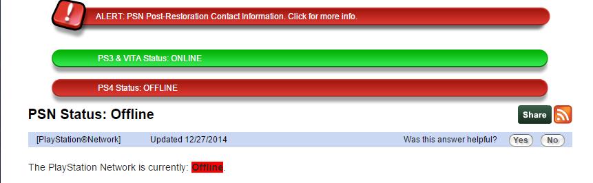25 Décembre : Impossible de se connecter au PSN et au Xbox Live B5431drCIAAqXeK