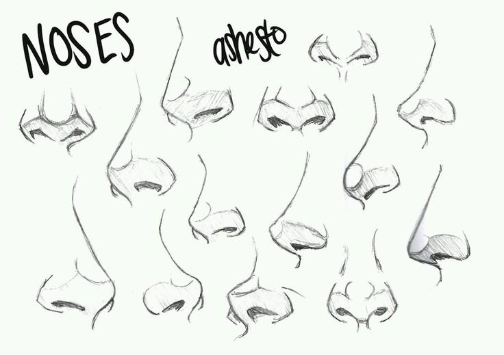 Character Design Noses : 드로잉자료 drawing file twitter