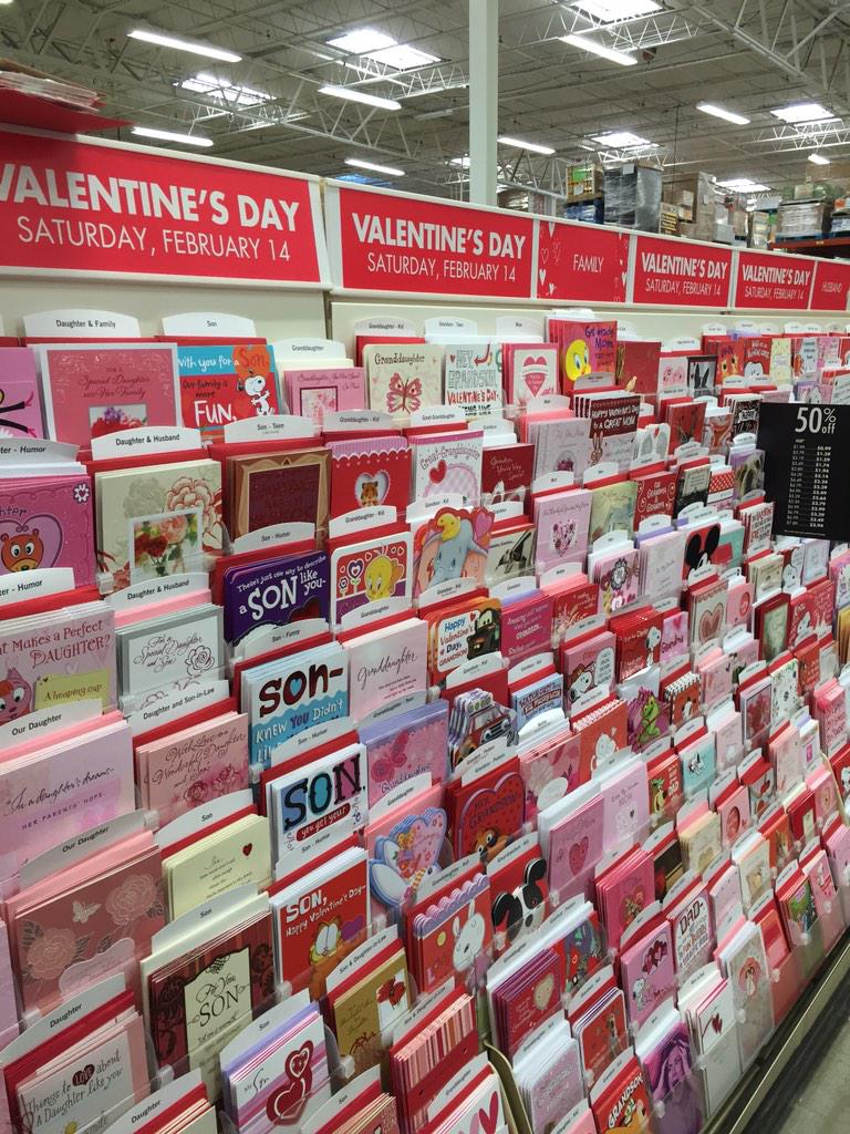The weekend after Christmas, Valentine's Day already out. http://t.co/8OxmZorjJh