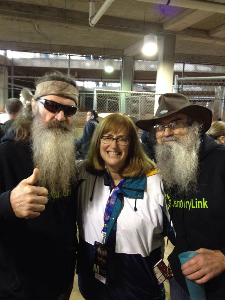 "Uncle Si of Duck Dynasty told me he wanted ""South Miami"" to win today! With Phil Robertson, too. @DCIBowl http://t.co/aJ6rppB6LF"