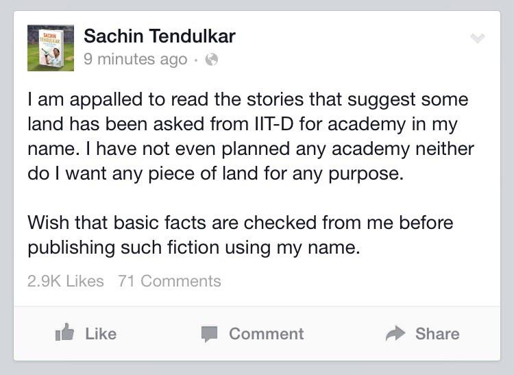 Clarification from @sachin_rt. http://t.co/sOpUqYLtve