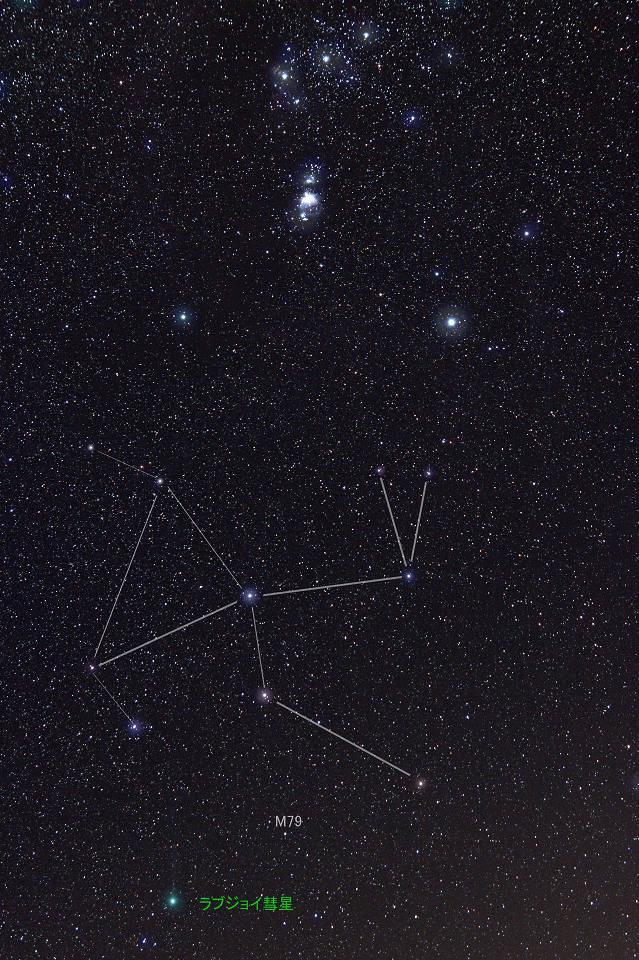 肉眼で見え始めたラブジョイ彗星