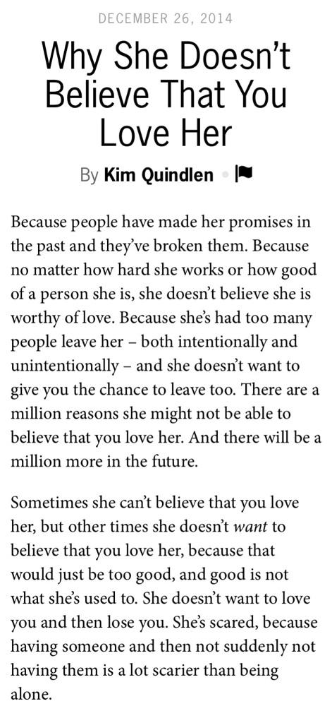 Why She Doesn T Believe You Love Her