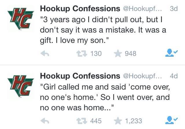 hookup confessions twitter