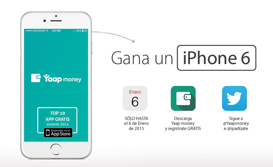Sorteo iPhone 6. ¡Gana un iPhone 6 GRATIS con Yaap Money! http://t.co/peZUgNSClc http://t.co/CLymf30U8T