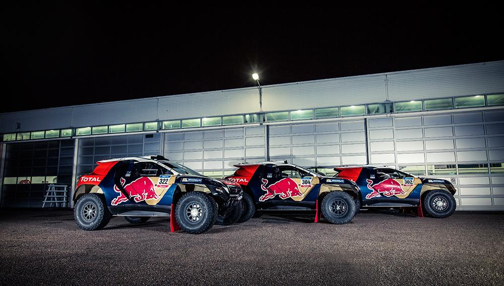The #Peugeot2008DKR gets some final tuning ahead of the start of @Dakar 2015. http://t.co/mDkqJle5E7