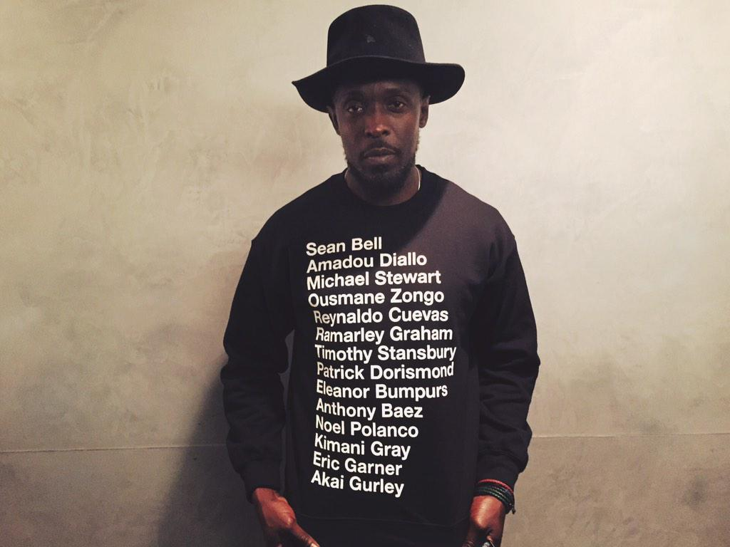 @bkbmg wearing names of black unarmed people—symbols of racial injustice—as we imagined empathy for the imprisoned. http://t.co/3sOPFcUjts