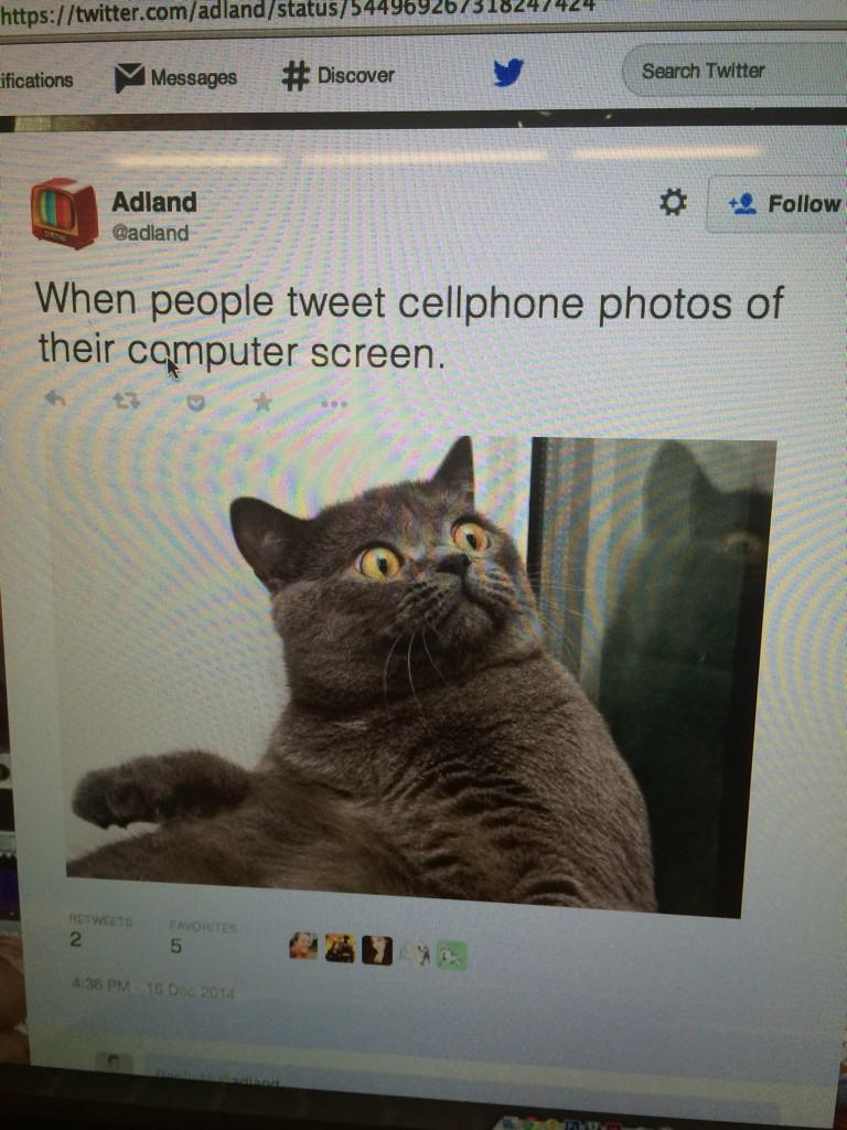 When meta   RT @adland: When people tweet cellphone photos of their computer screen. http://t.co/CoZofqQyMp http://t.co/Hkctox0S6g