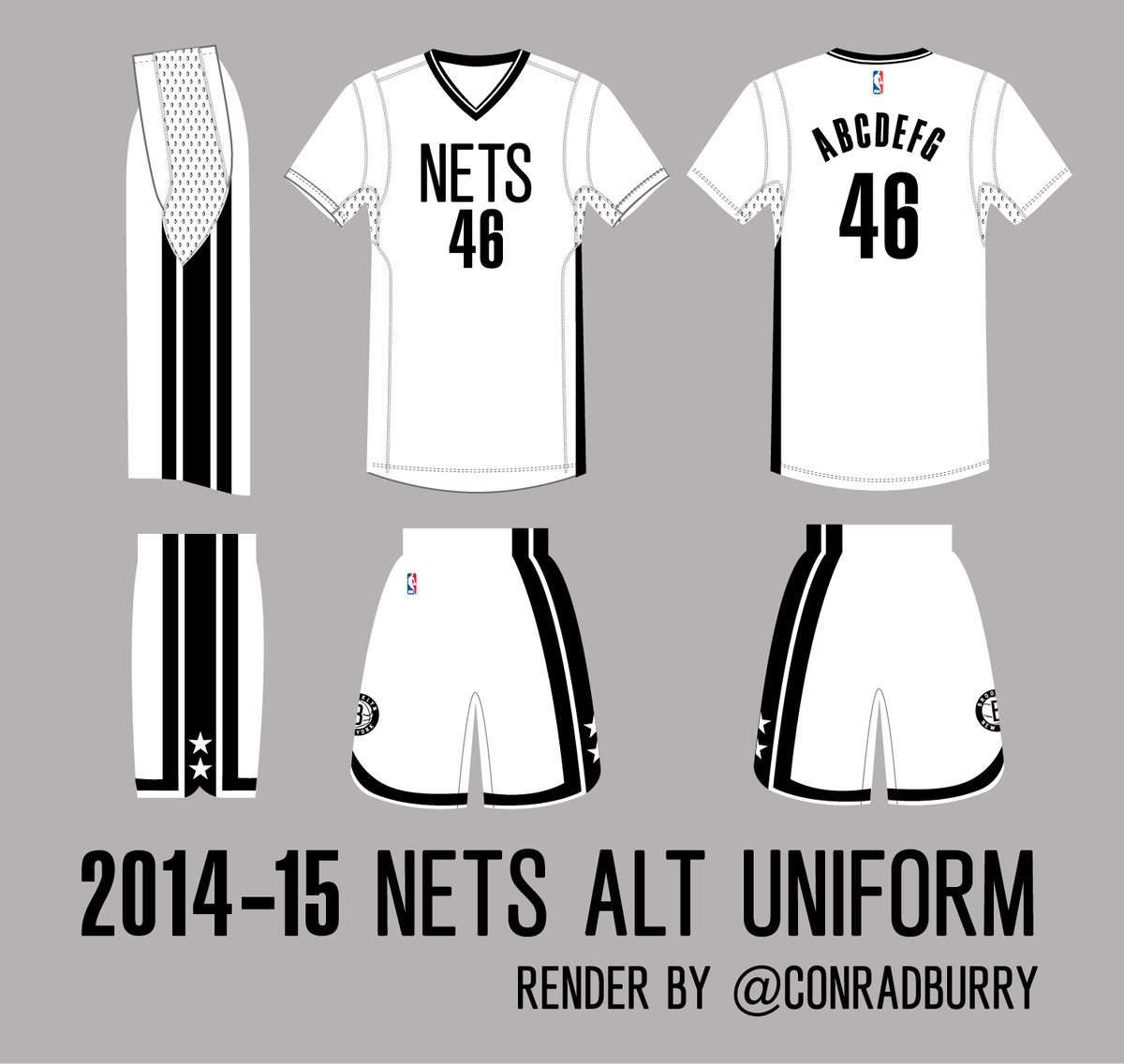sale retailer 76692 caff0 Brooklyn Nets New Alternate Jersey....More Sleeves ...