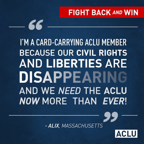 Help the @ACLU fight for justice. Donate today—your gift will be matched dollar for dollar: ...