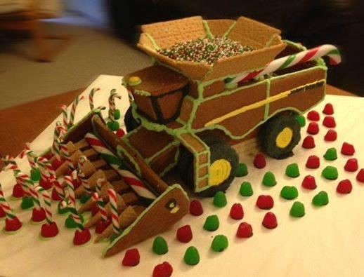 Cool! RT @MWalfred: Love this pic -came across my FB feed from NY Ag Society - gingerbread combine! #agchat #foodchat http://t.co/EoZ44D2waC