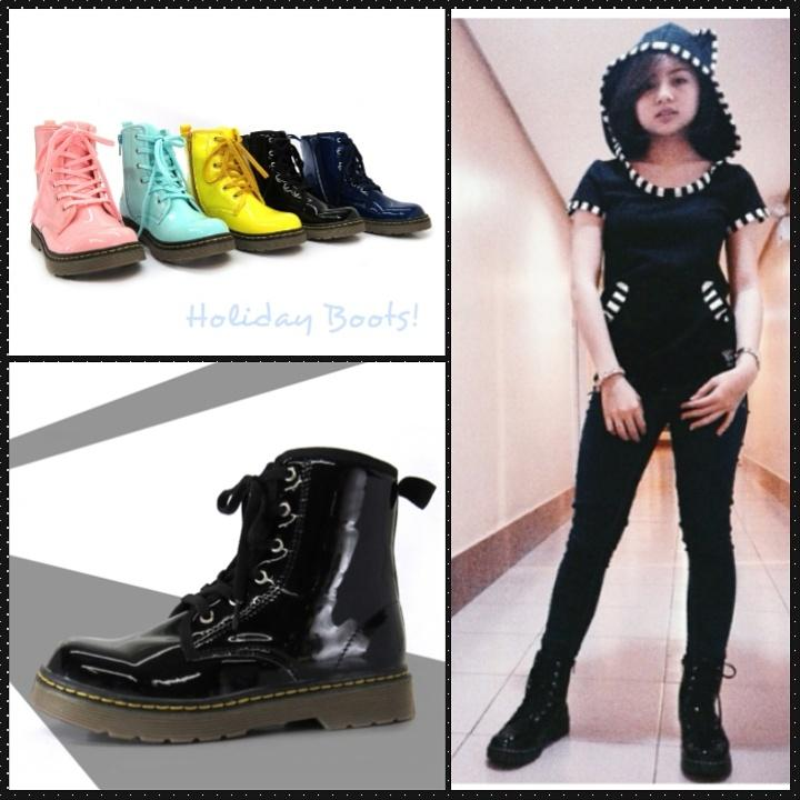 Gibi Shoes On Twitter U0026quot;Rocker Chic In This Seasonu0026#39;s Latest Patent Army Boots! Soft Patent ...