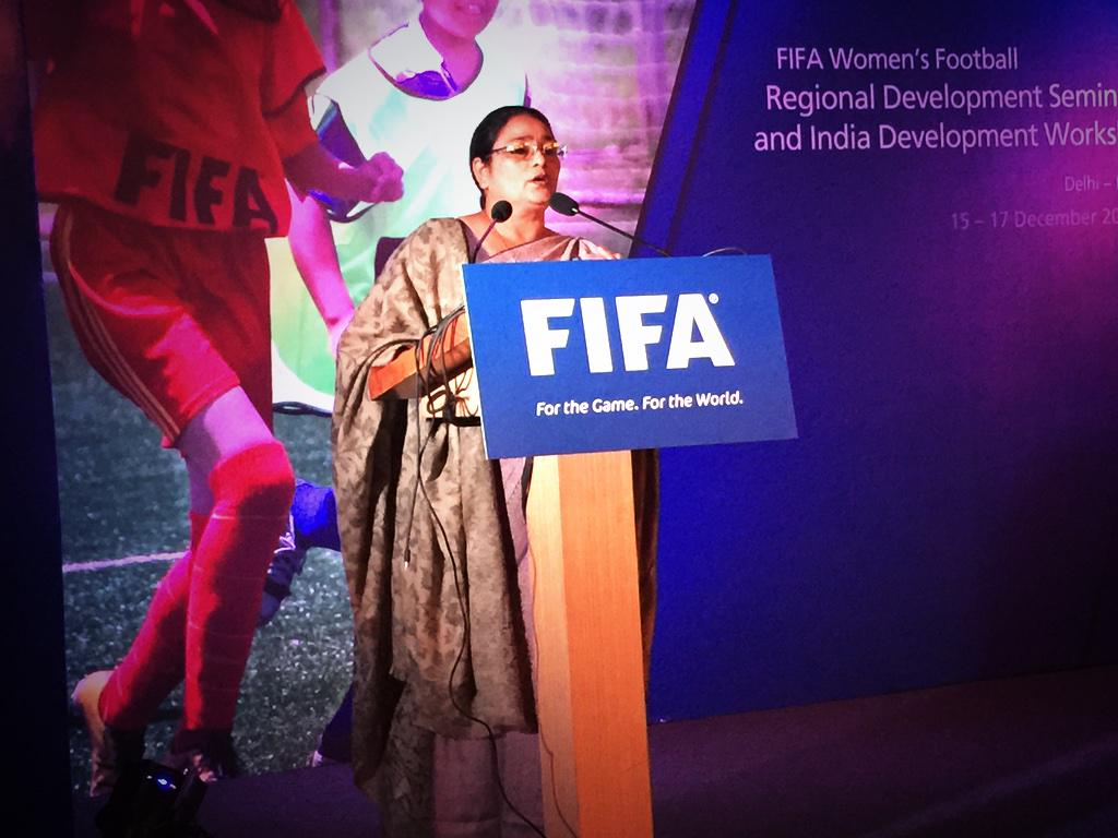 """""""Women are not only homemakers, but the makers of the world. We are the driving force wherever we are."""" #FIFAWFDIndia http://t.co/sEs6Pk8jgP"""