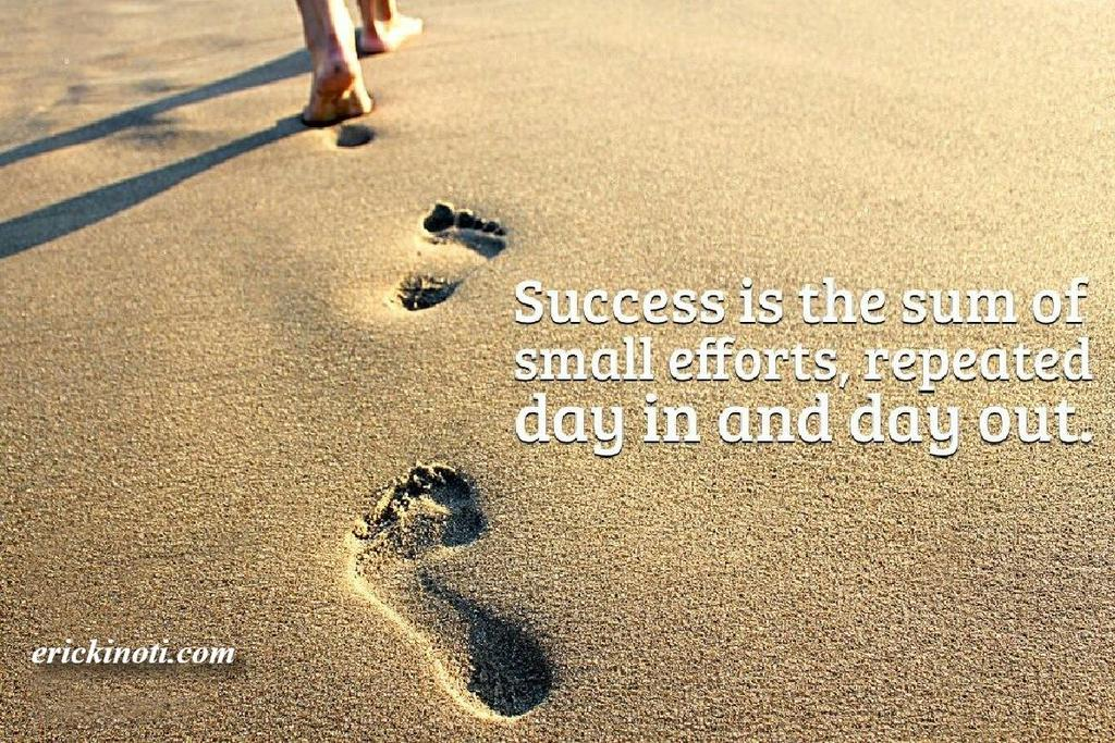 """Steps Of Success Quotes: Martine Mutwiri On Twitter: """"Success Is The Sum Of Small"""