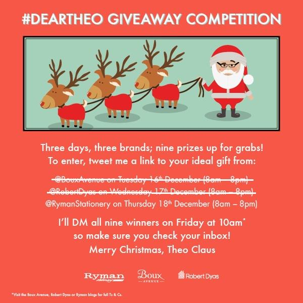 Its the final hour of my #DearTheo comp !  Win #Christmas gifts from @RymanStationery http://t.co/pQOpJN84Xj