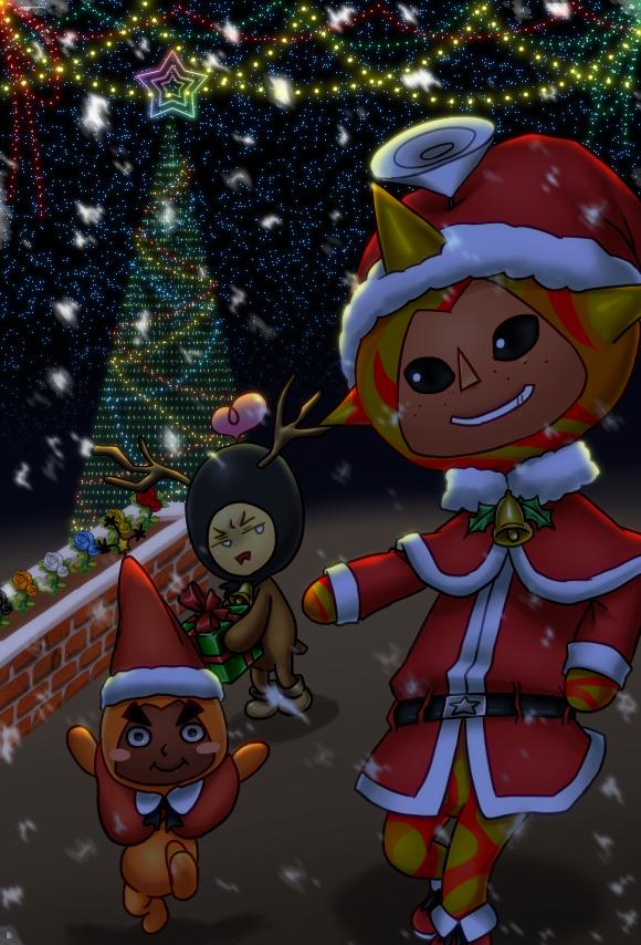 【電波人間のクリスマス2014】青☆pさんのイラスト