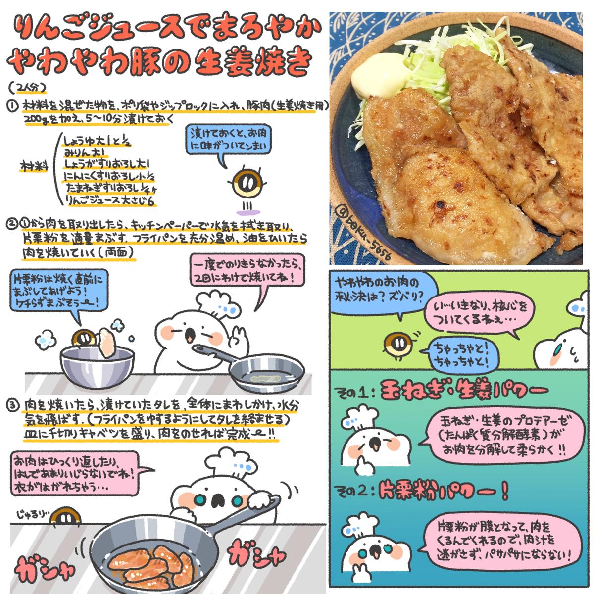 焼き 生姜 レシピ の 豚肉