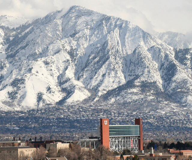 The @UUtah has a slightly different view from its football stadium than most universities. #WasatchWednesday #GoUtes http://t.co/xzKxyd7O7G