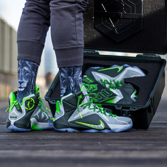 """9331cb8b6f48 """" SneakerShouts  On foot look at the Nike Lebron 12"""