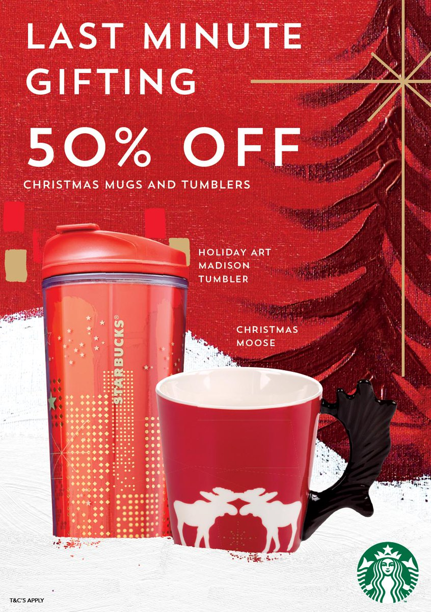 starbucks ireland on twitter last minute gifts up to 50 off christmas items at starbucks from 7am tomorrow morning