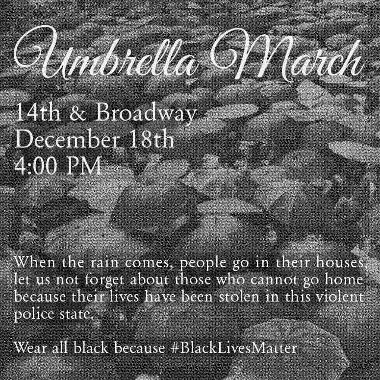Umbrella March: #BlackLivesMatter @ Oscar Grant Plaza | Oakland | California | United States