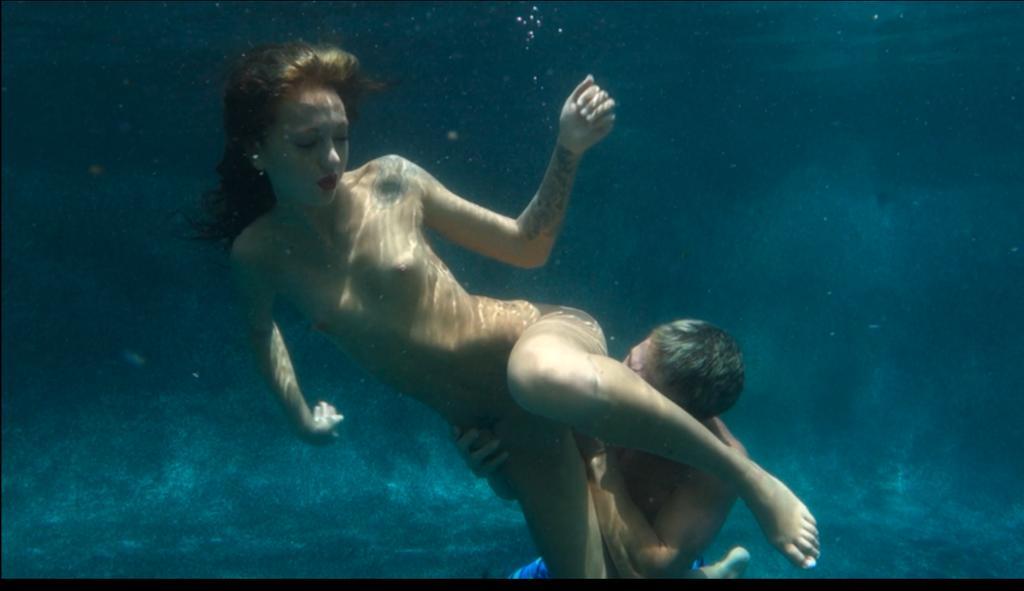 Underwater sex scene
