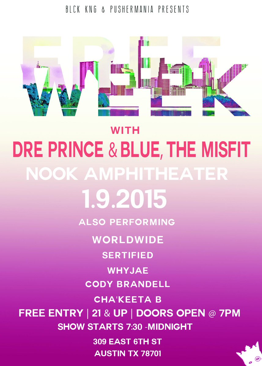 Checkout @DrePrinceBK @BlueTheMisfit @CodyBrandell and more for the free, on the 9th of January. http://t.co/39aGIncRrd
