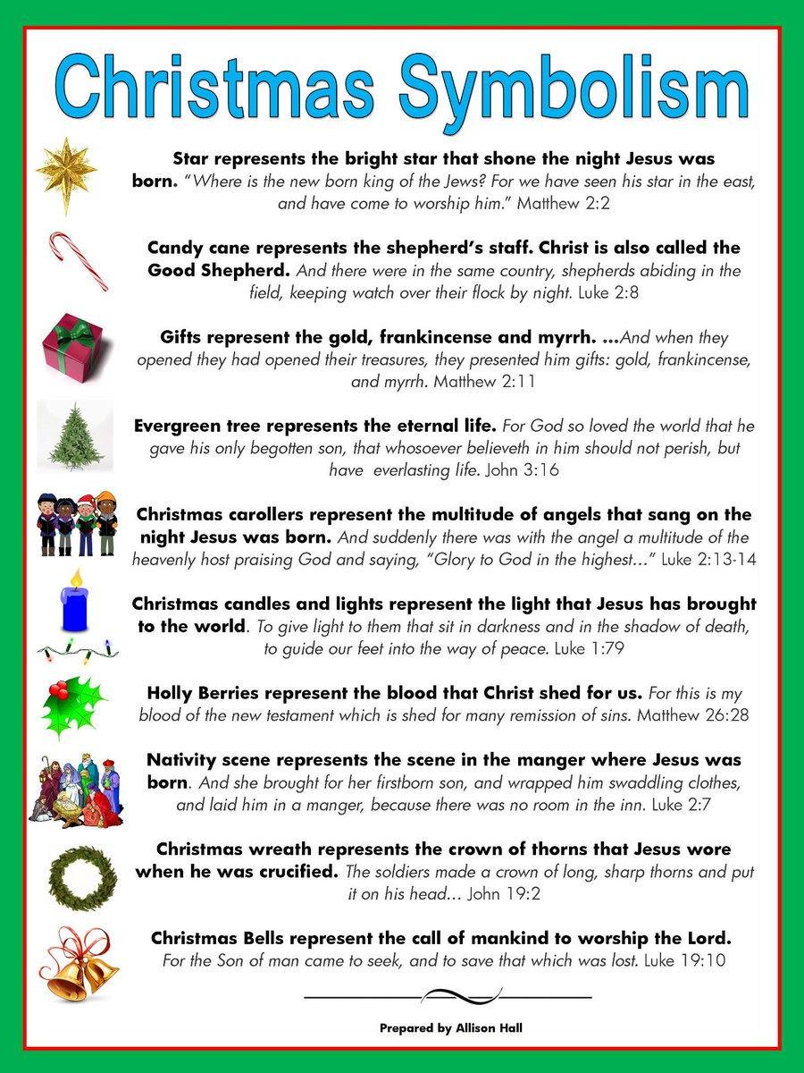 Allison C Hall On Twitter Christmas Symbols And Their Meaning