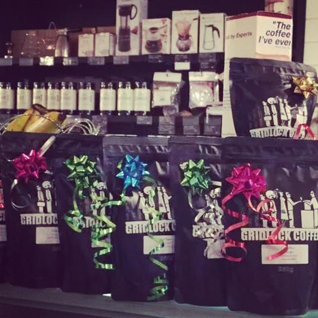 The perfect gift for the coffee lovers in your life.250g bags of @gridlock_coffee and a range of brewing equipment. http://t.co/exXXyClUxn