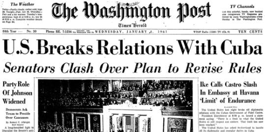 via @Arturo_Sarukhan #Cuba From the front page of @washingtonpost 1961 to home page of @nytimes 2014 #Cuba http://t.co/ZdxOQ1LPKv
