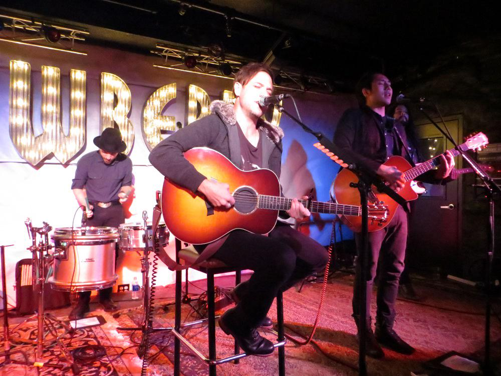 The Airborne Toxic Event Unplugged. Photo by Julie, Saratoga Springs, NY, Dec. 17, 2014.