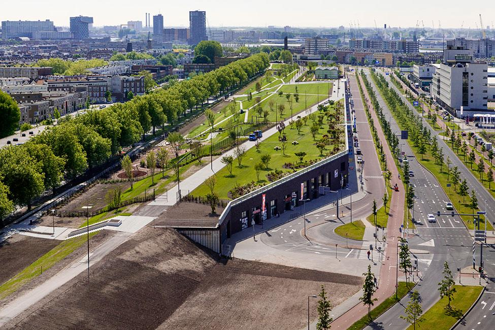 Landezine on twitter four harbour roof park by buro sant for Architecture t scale