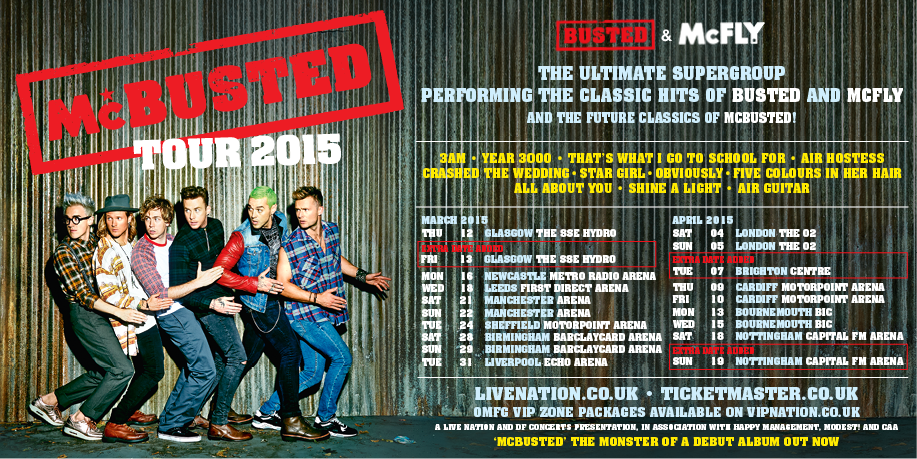RT @LiveNationUK: Extra date added to @mcbusted's UK tour in Brighton this April. Tickets on sale tomorrow: http://t.co/Q9GERl8Nvs http://t…