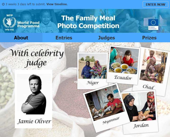 RT @WFP: Just launched: #FamilyMeal #photocompetition with @jamieoliver! Enter your best shots now http://t.co/MmI0d3Dt9W http://t.co/PzyGe…