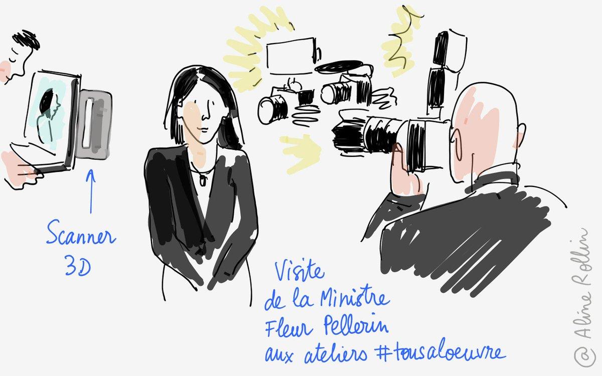 @fleurpellerin sous les objectifs des appareils photos et du #scanner3D aux ateliers #tousaloeuvre @MuseeLouvre http://t.co/VyYcHHOlSf