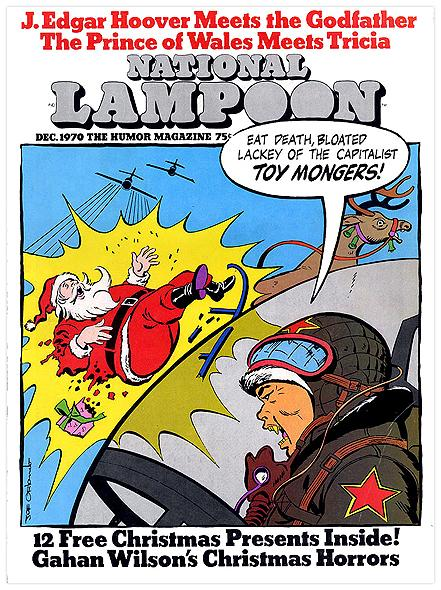 Classic 1970 @nationallampoon magazine cover w/ North Korean jets shooting down #Santa! http://t.co/Xij1QaB1a1 http://t.co/V3wfVbz7DF
