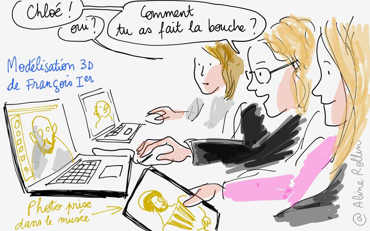François Ier modélisé en 3D aux ateliers #numeriques de #tousaloeuvre @MuseeLouvre @MinistereCC #3dprinting http://t.co/W4dUzLsQg6