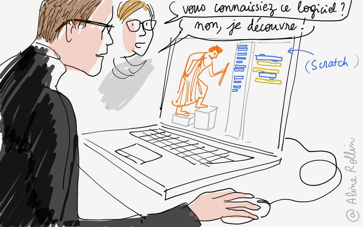 Initiation aux #algorithmes avec #scratch @MuseeLouvre #tousaloeuvre @MinistereCC #code #art @scratchteam http://t.co/MkiUx5wyp0