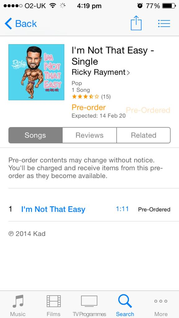 RT @Tattedlexii: #preordered @RickyRayment http://t.co/vb6WGst2Nc