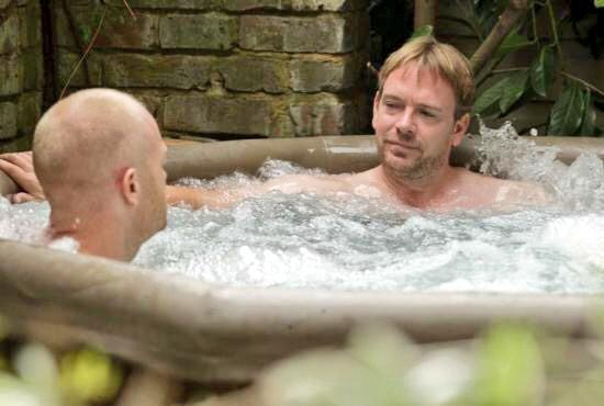 "RT @mrjakedwood: People ask me ""what've been up to since coming out of Strictly"". Well, I say, mainly relaxing in Ian Beales jacuzzi 🏊 http…"