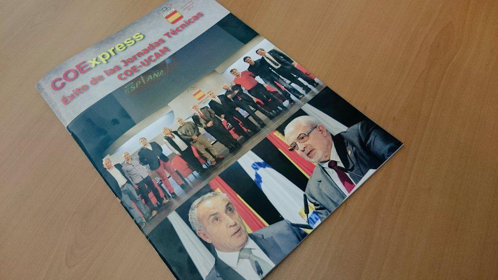 La revista del @COE_es lleva a portada las jornadas que organizó junto a la UCAM. http://t.co/3pXF4e33uN