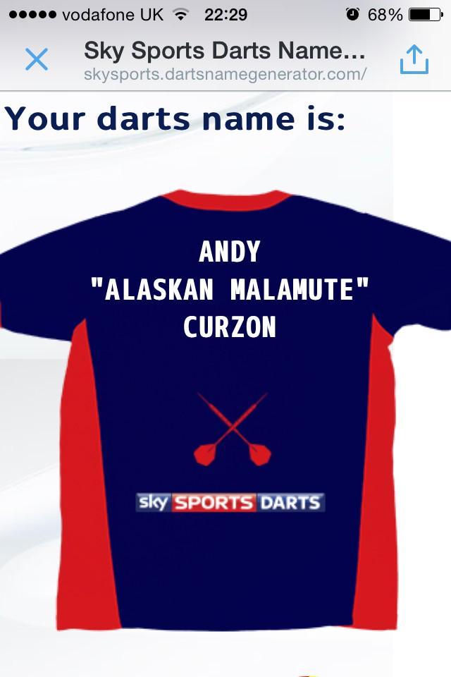 darts nickname generator