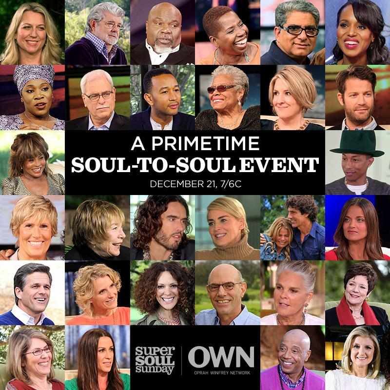 Excited to be a part of the @SuperSoulSunday Soul to Soul Special w/ @Oprah this Sunday at 7pmET/PT on @OWNTV http://t.co/DTx44gpq9t