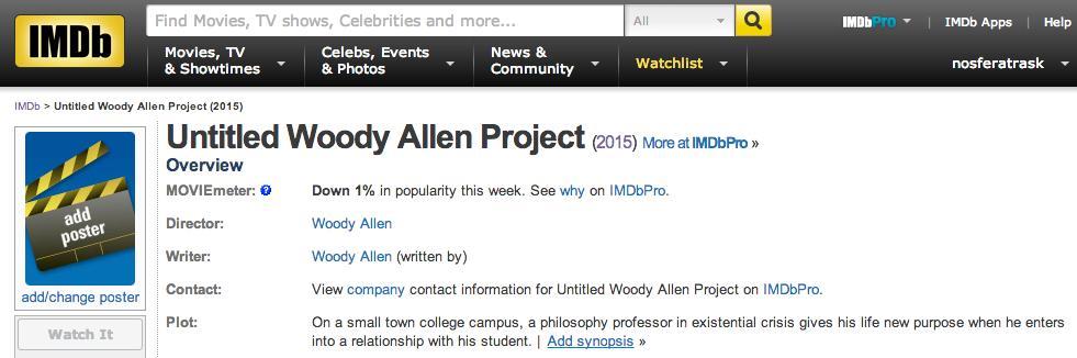 Oh, Woody Allen, no. No no no no no. http://t.co/4hxce646l5