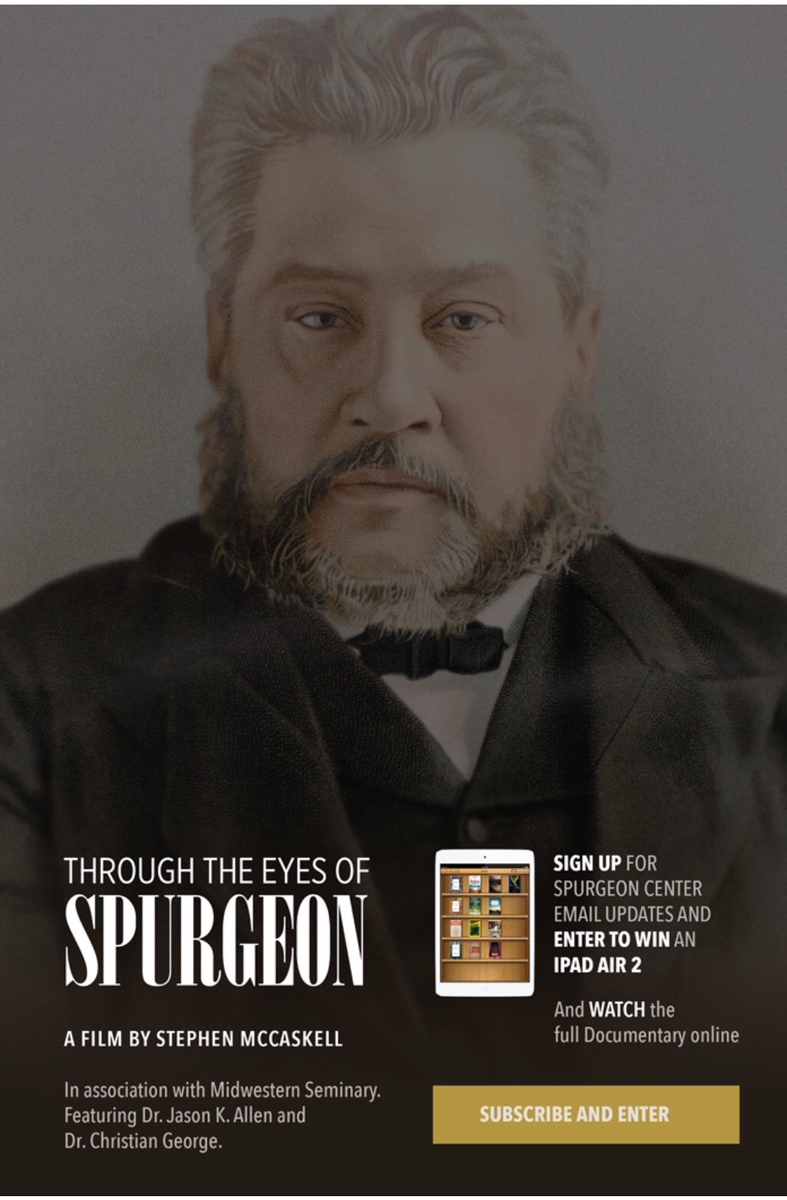 """Brand new documentary """"Through The Eyes Of Spurgeon"""" released today. Watch online: http://t.co/heKVLOrSSo http://t.co/ZLUoCKRf1y"""