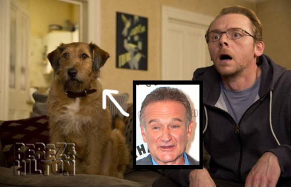 Here's a clip of #RobinWilliams' last role… as #SimonPegg's talking dog! http://t.co/eyBxBsgGFq http://t.co/W1xzgYL78p