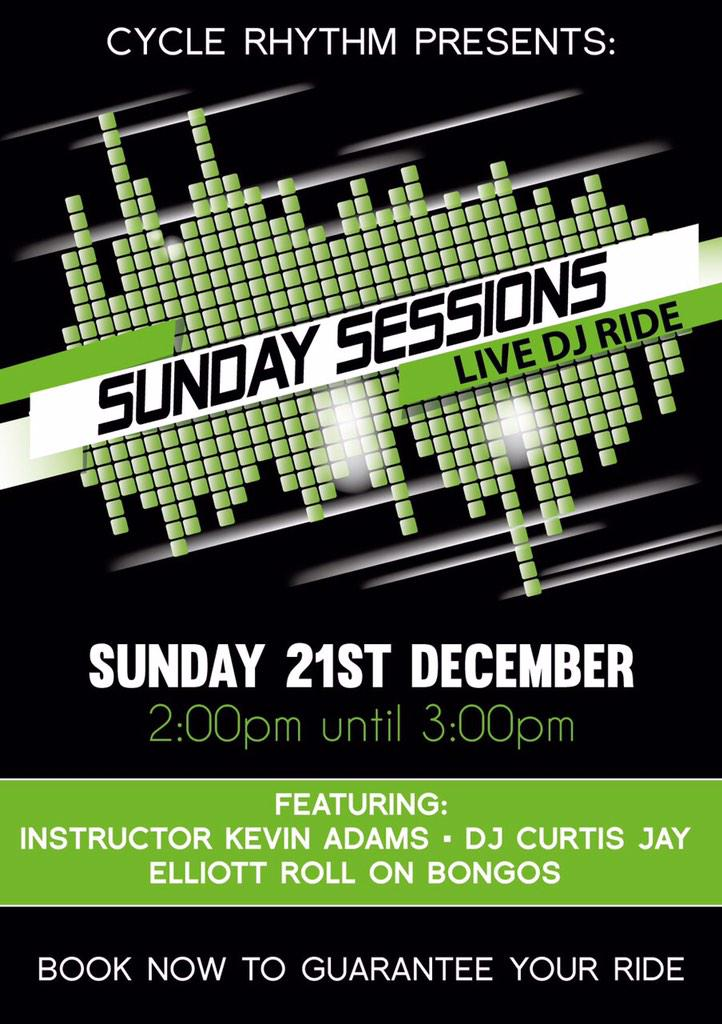 RT @AndyTCarroll: Looking forward to Sunday Session this Sunday @Cyclerhythm http://t.co/Fv6t5JJAc4