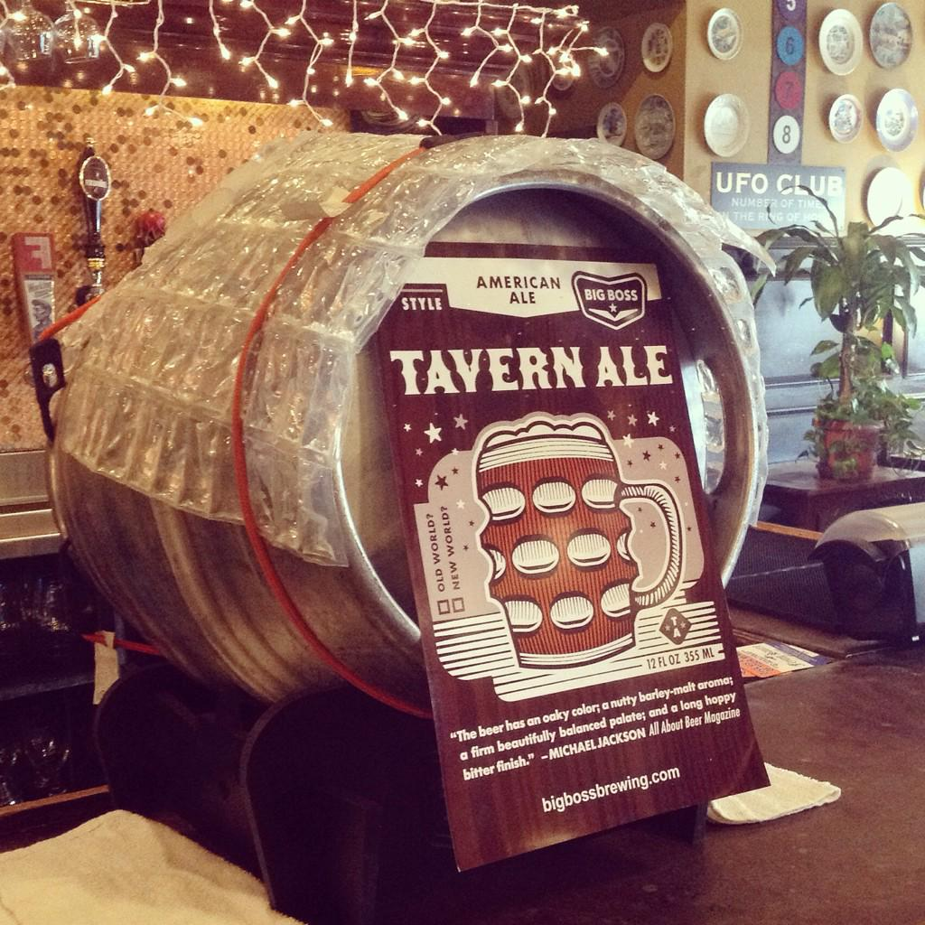 Tapping this monster @bigbossbeer cask of Tavern Ale tonight with a specialty logo mug at 7pm. Don't miss it! http://t.co/4f0c35MthB