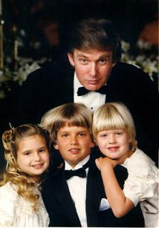 A #TBT photo of @realDonaldTrump with his children in their early years. http://t.co/TH5kKaL2WU